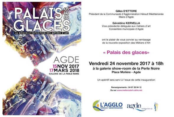 """Exposition """"Palais des glaces"""" - Galerie la Perle Noire -Agde"""