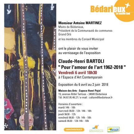 RÉTROSPECTIVE DU TRAVAIL DE CLAUDE-HENRI BARTOLI
