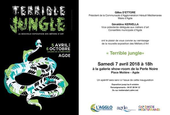 """exposition """"Terrible jungle"""" - Galerie la Perle Noire - Agde"""