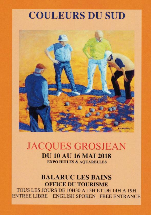 Jacques GROSJEAN - expose à Balaruc les Bains