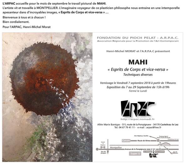 Mahi expose à l'ARPAC - Castelnau le Lez