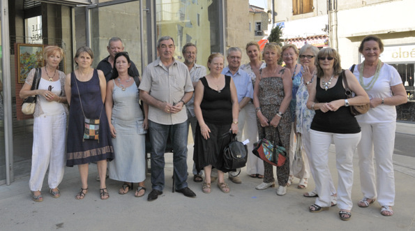 Les artistes présents le jour du vernissage le 13 août 2011