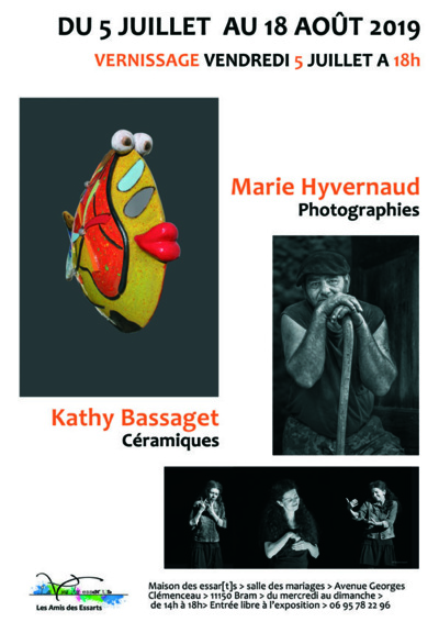 LES ESSARTS Exposition Marie YVERNAUD et Kathy Bassaget