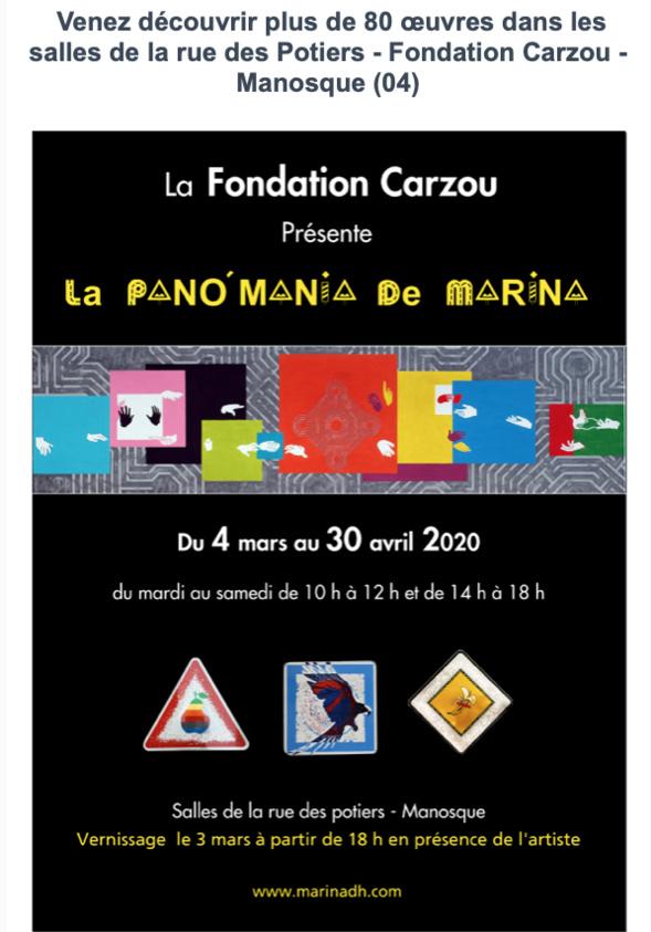 Marina DH s'expose à la Fondation Carzou
