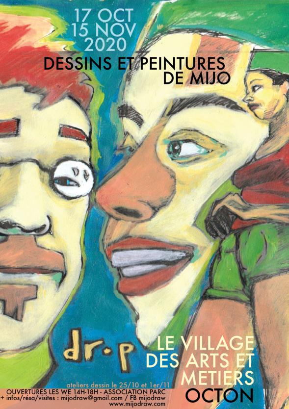 Exposition de MIJO au Village des Arts et Métiers - OCTON
