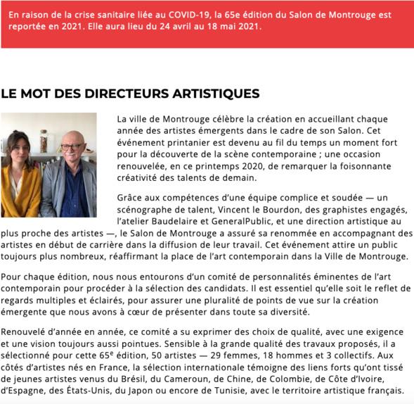 65e édition du Salon de Montrouge en 2021.