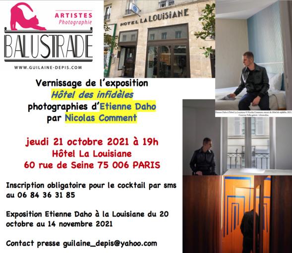 Etienne Daho à la Louisiane - exposition du photographe Nicolas Comment - Paris