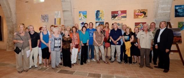 Les artistes le vendredi 14 juin 2013 au vernissage de l'exposition