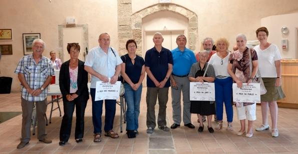 Les lauréats à la remise des prix.