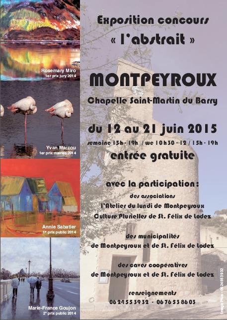 """Remise des prix - Exposition concours """"l'abstrait"""" à Montpeyroux"""