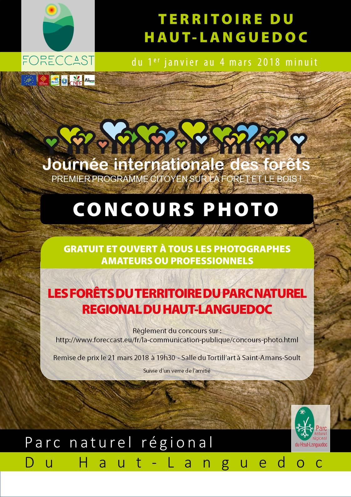 """Concours Photo """"Les forêts dans le Haut-Languedoc"""""""