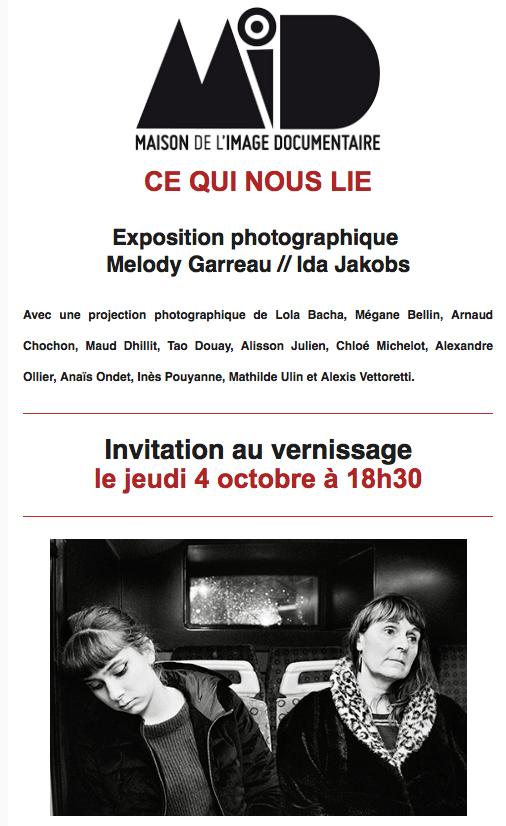 """Exposition """"Ce qui nous lie"""" - Sète"""