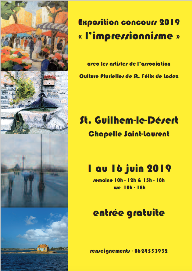 Expostion concours - Saint-Guilhem-le-Désert - Espace chapelle Saint-Laurent