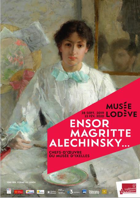 Musée de Lodève exposition: Ensor, Magritte, Alechinsky... chefs d'œuvre du Musée d'Ixelles