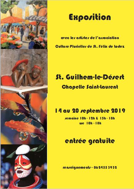 Exposition Chapelle Saint-Laurent - Saint-Guilhem-le-Désert