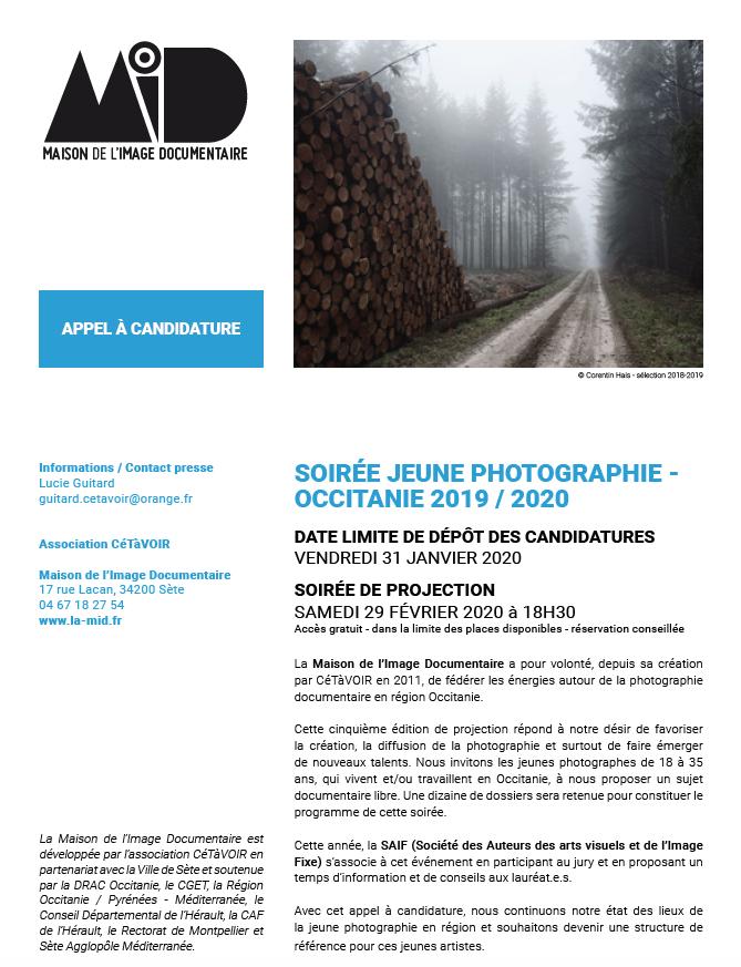 Lancement de l'appel à candidature Jeune Photographie Occitanie