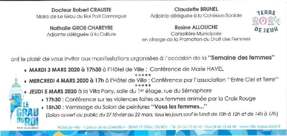""""""" VOUS LES FEMMES """" exposition peintures-sculptures - Grau du Roi (30)"""