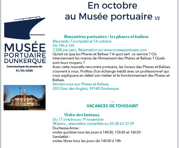 En octobre au Musée portuaire - Dunkerque