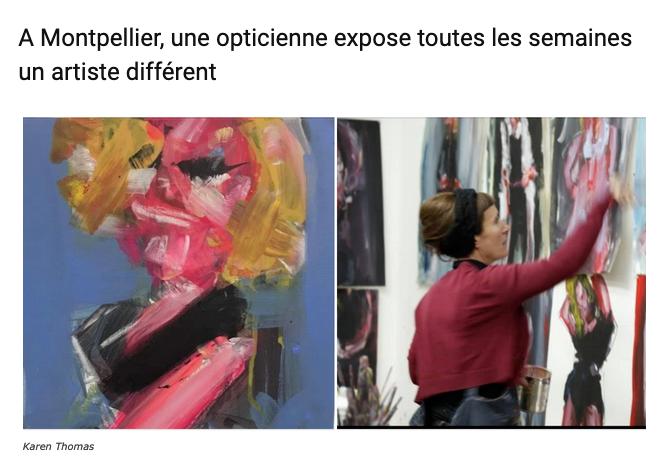 Une opticienne expose des artites toutes les semaines - Montpellier