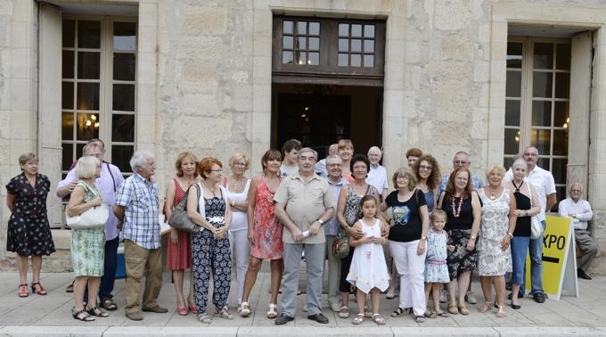 1 août 2014 - Les artistes, le soir du vernissage.