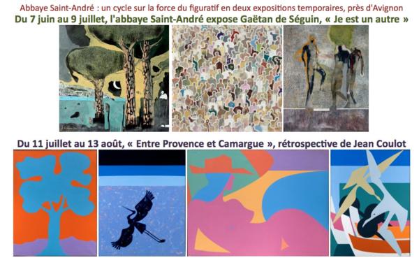 Expo Gaëtan de Séguin 'Je est un autre' puis rétrospective Jean Coulot - à l'abbaye Saint-André, près d'Avignon