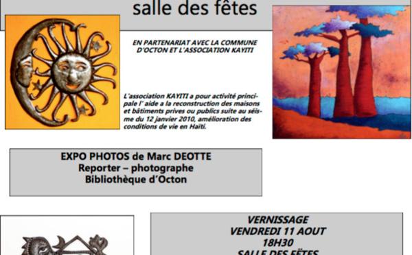 "EXPOSITION  "" ART et ÎLES "" . KAYITI - Octon"