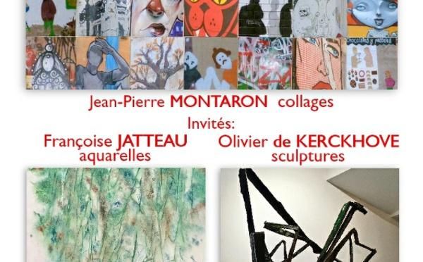Expo à La Livinière : JP Montaron, Françoise Jatteau, Olivier de Kerckhove
