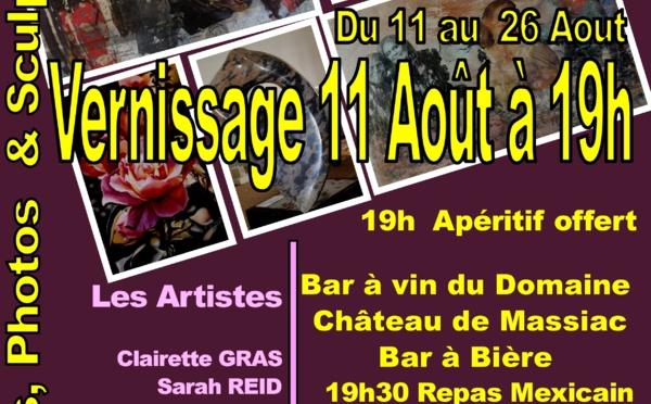 Exposition Azille Accueil -  Domaine Massiac
