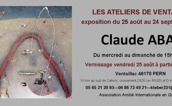 Exposition de Claude ABAD à Ventaillac