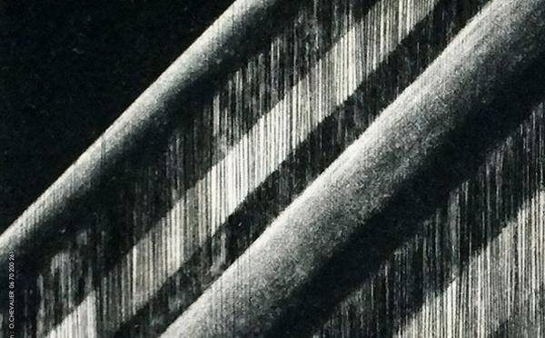 """Exposition de Marie-Christine BÉGUET""""point à la ligne"""" à l'Atelier d'encadrement Laurence Allais à LATTES"""