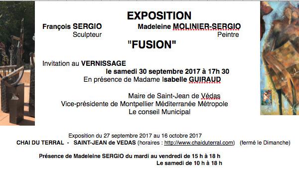 """Exposition  """" FUSION """"au Chai du Terral à Saint Jean de Védas"""