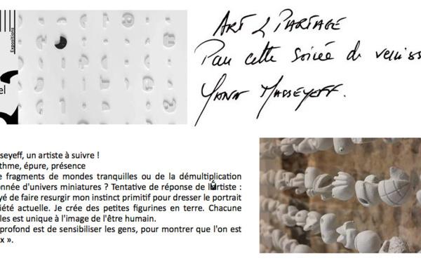 Exposition de Yann Masseyeff à Rieupeyroux -