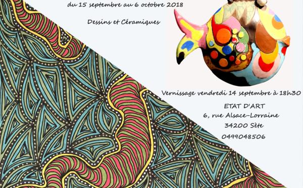 Première Exposition chez ETAT D'ART à Sète