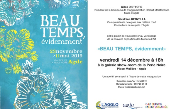 Exposition Beau temps évidemment - Galerie la Perle Noire - Agde