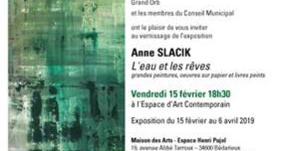 Exposition d'Anne SLACIK - Espace d'Art Contemporain de la ville de BÉDARIEUX