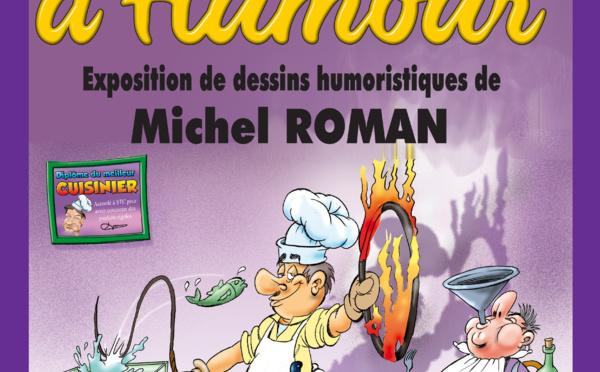 Exposition de dessins humoristiques à Villemagne l'Argentière.