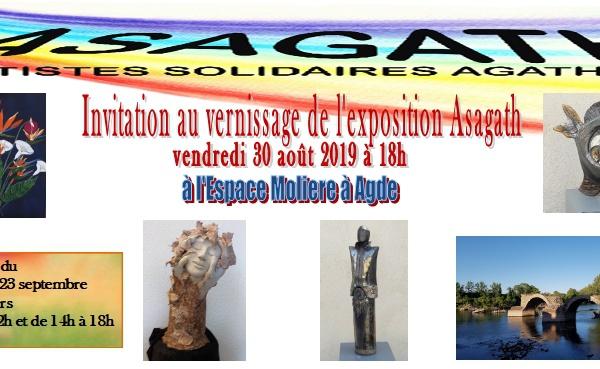 Exposition Asagath Espace Molière - Agde
