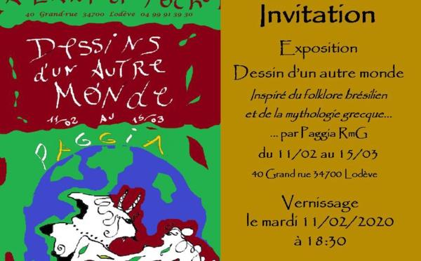 """exposition de Paggia RmG """"Dessins d'un autre monde"""" - Lodève"""