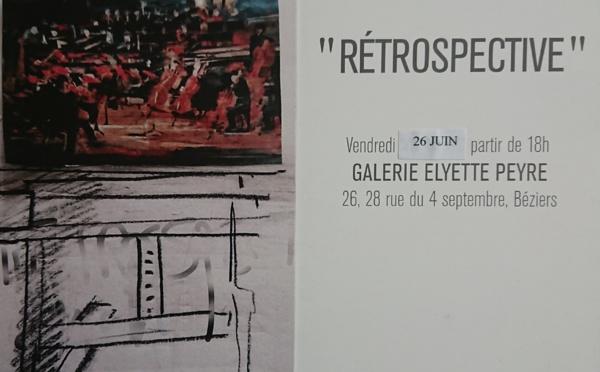 Exposition de Serge GRIGGIO - galèrie Elyette Peyre à BÉZIERS