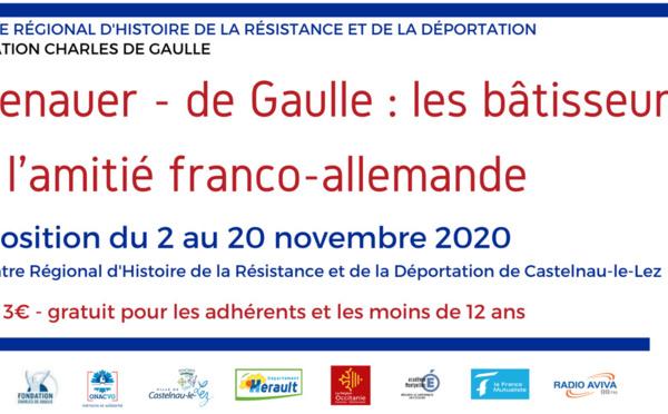 """Exposition """" Adenauer - de Gaulle """" - Castelnau-le-Lez"""