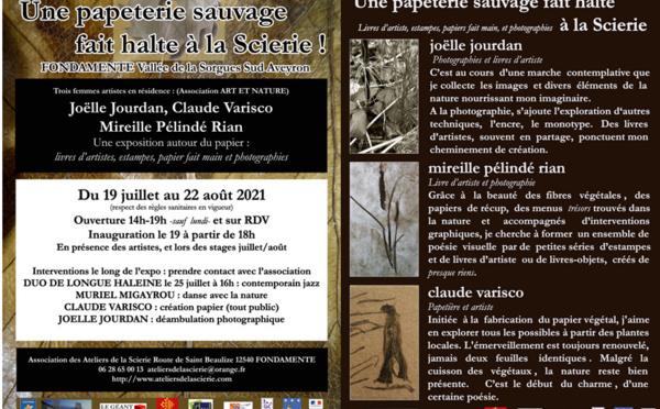 EXPOSITION Ateliers de la Scierie Fondamente - Navacelles
